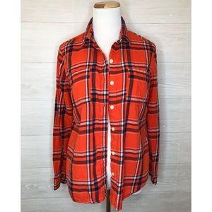 Old Navy Orange & Navy Flannel